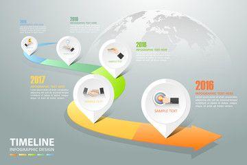timeline infographic 5 options business concept infographic