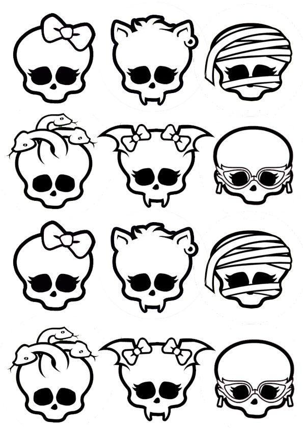 monster high printable decorate your own skull - Les Monster High