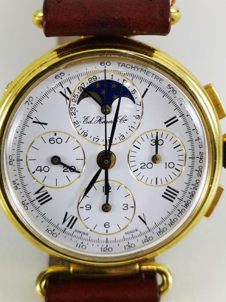 Calendario Perpetuo Orologio.Orologio Edizione Speciale Heuer C Fasi Luna Calendario