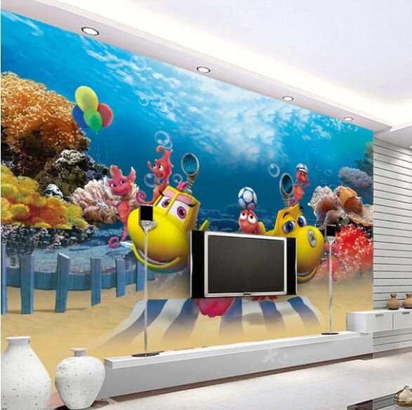 Find More Wallpapers Information About 3d Wallpaper Carton Mural Kids Bedroom Sea World Papel Pared Papel De P 3d Wallpaper For Walls Murals For Kids Wallpaper