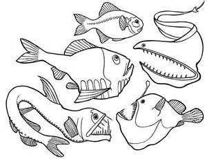 deep sea fish angler fish coloring pages dangerous deep sea fish - Fishing Coloring Pages