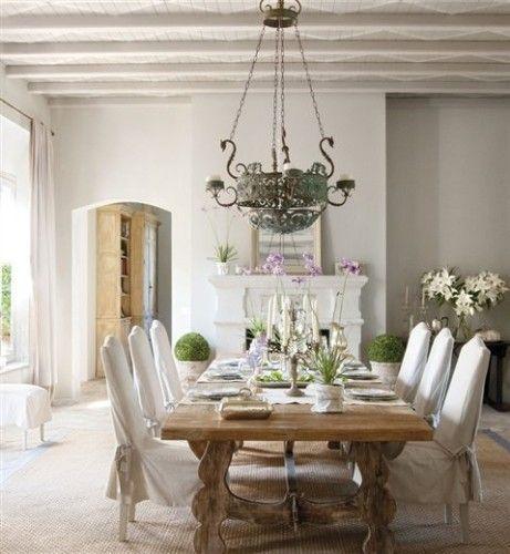 Comedores Elegantes en Color Blanco   casa   Pinterest   Comedor ...