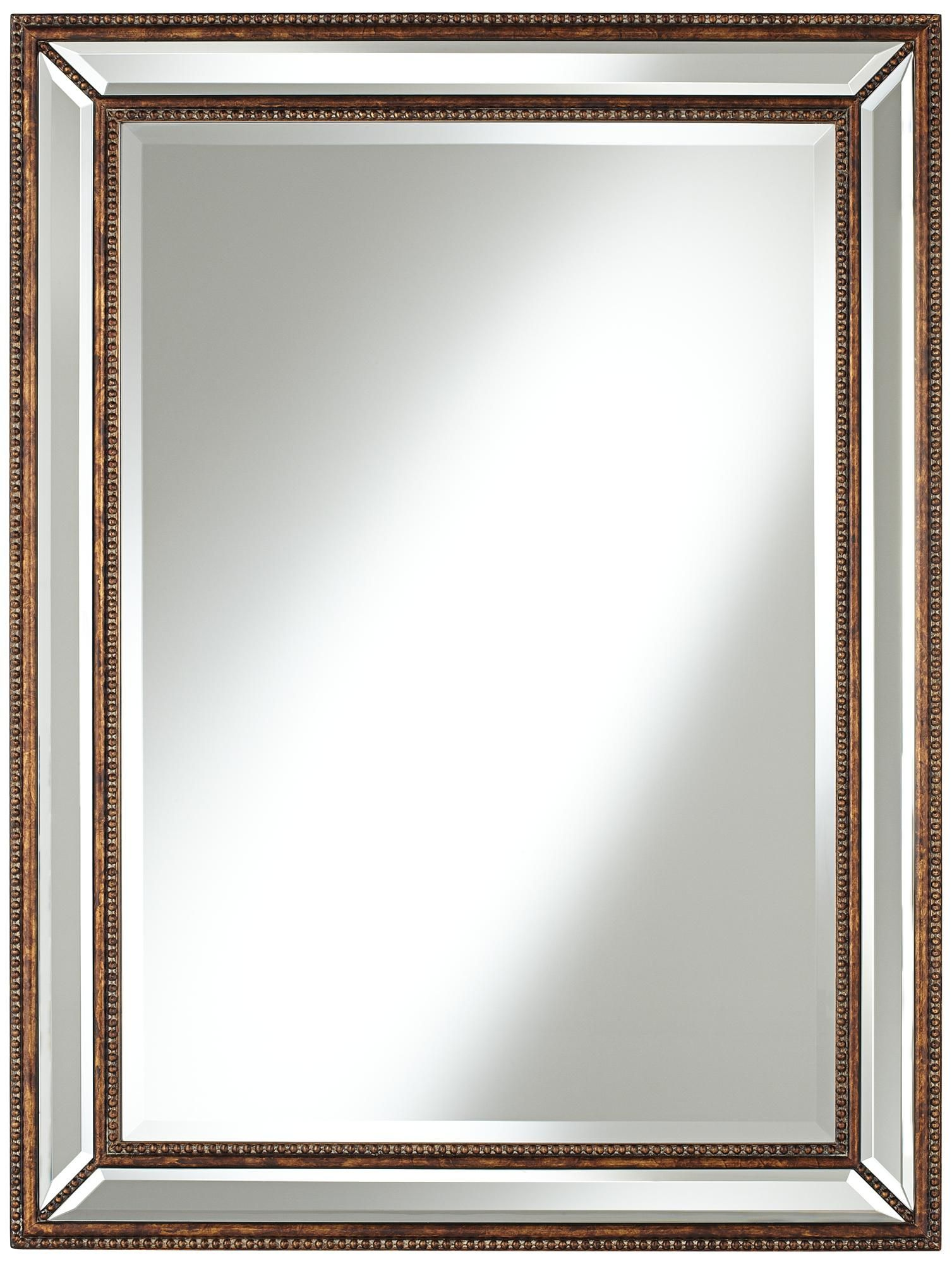 Uttermost Palais Bronze 30 X 40 Beaded Wall Mirror Y6594 Lamps Plus In 2021 Mirror Wall Wall Mirror Online Framed Mirror Wall
