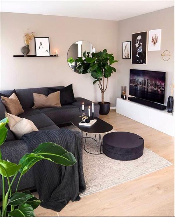 Photo of Schöne 15 Ideen Schwarzes Sofa Wohnzimmer Dekor