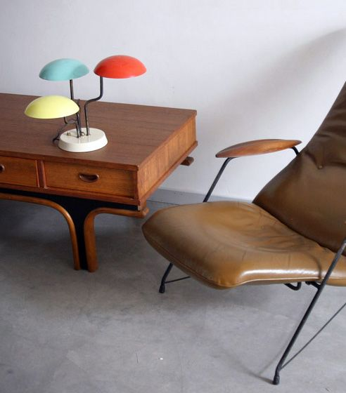 Gino Sarfatti Lampe à Poser Trois Couleurs 1952 (med