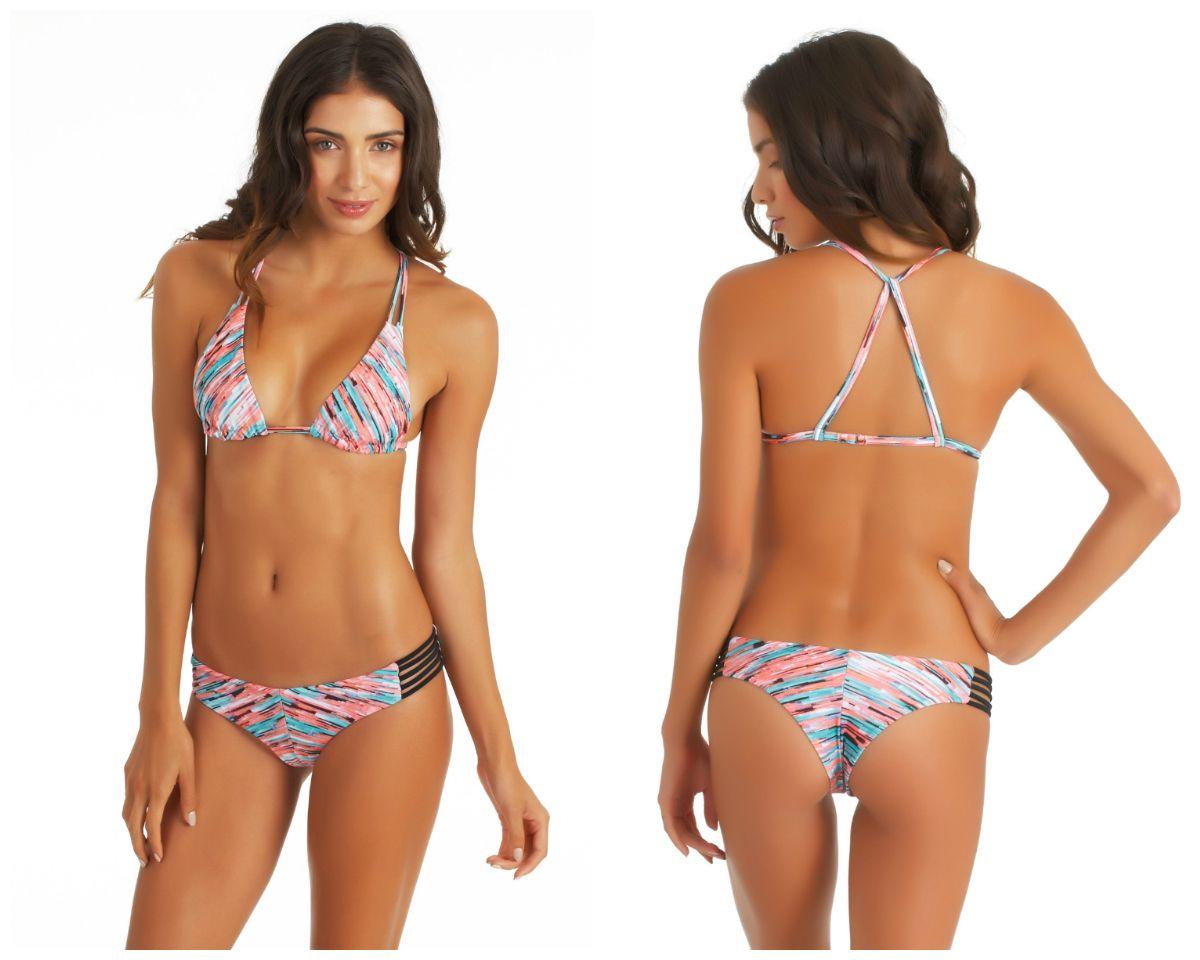 9392ca92382d6 HURLEY Static Lined Halter Bikini Top   Static Spider Bikini Bottom ...