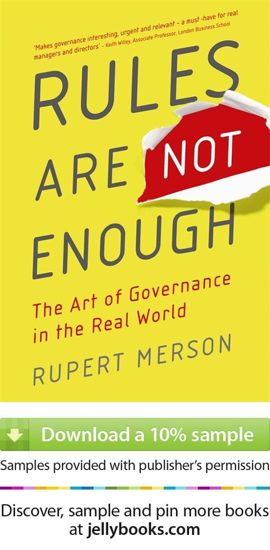 Rules Are Not Enoughu0027 by Rupert Merson - Download a free ebook - sample quotations