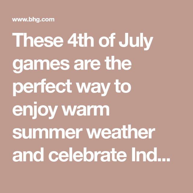 Fun 4th of july outdoor games for kids forumfinder Images