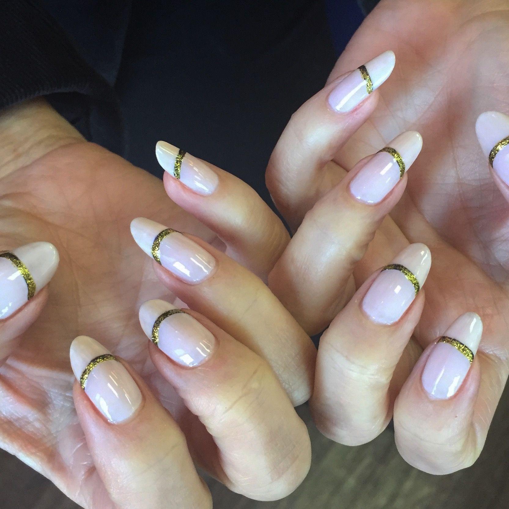 Natural nails -Beautiful Christmas French using life on Mars polish ...