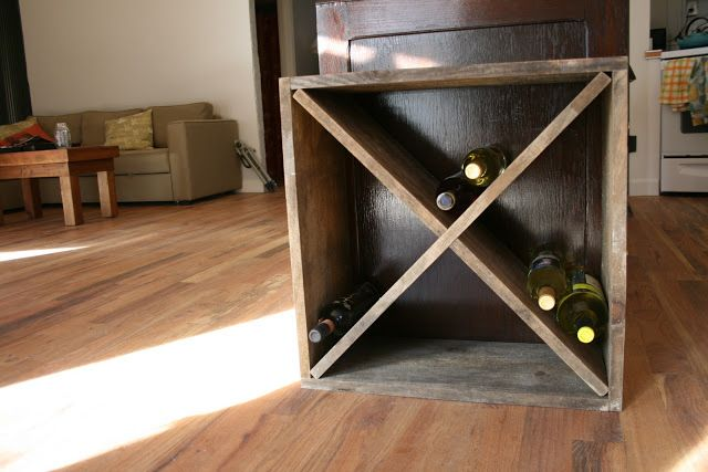 Build A Diamond Shaped Wine Rack