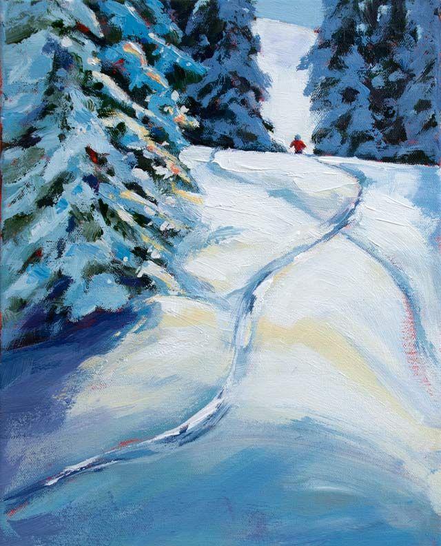 Easy Ski Paintings Google Search Winter Scenes Window