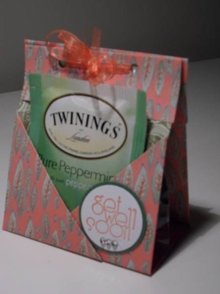 Tea bag holder Get Well Soon Stampin' Up project. Very ...