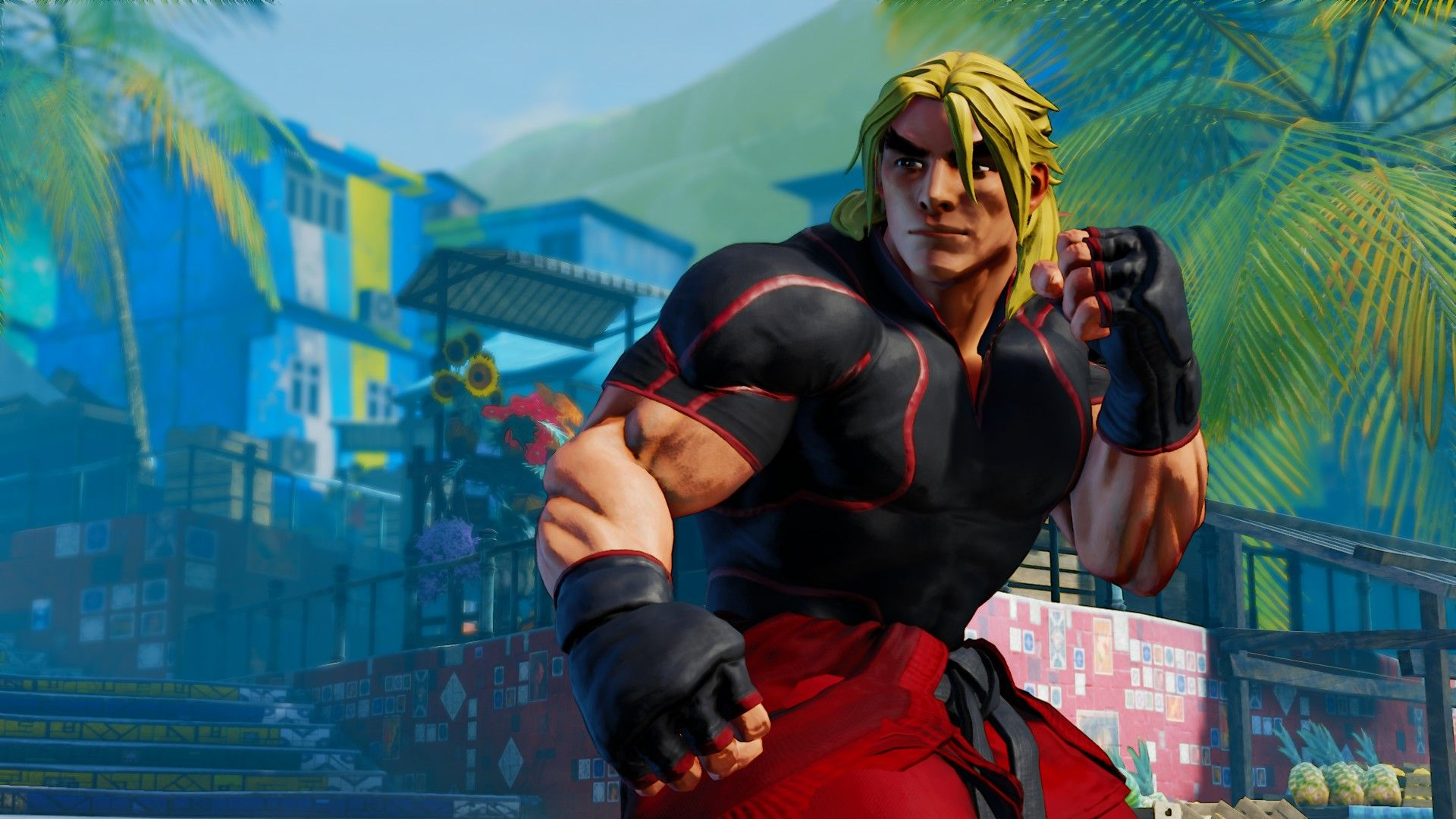 street fighter 5 ken face