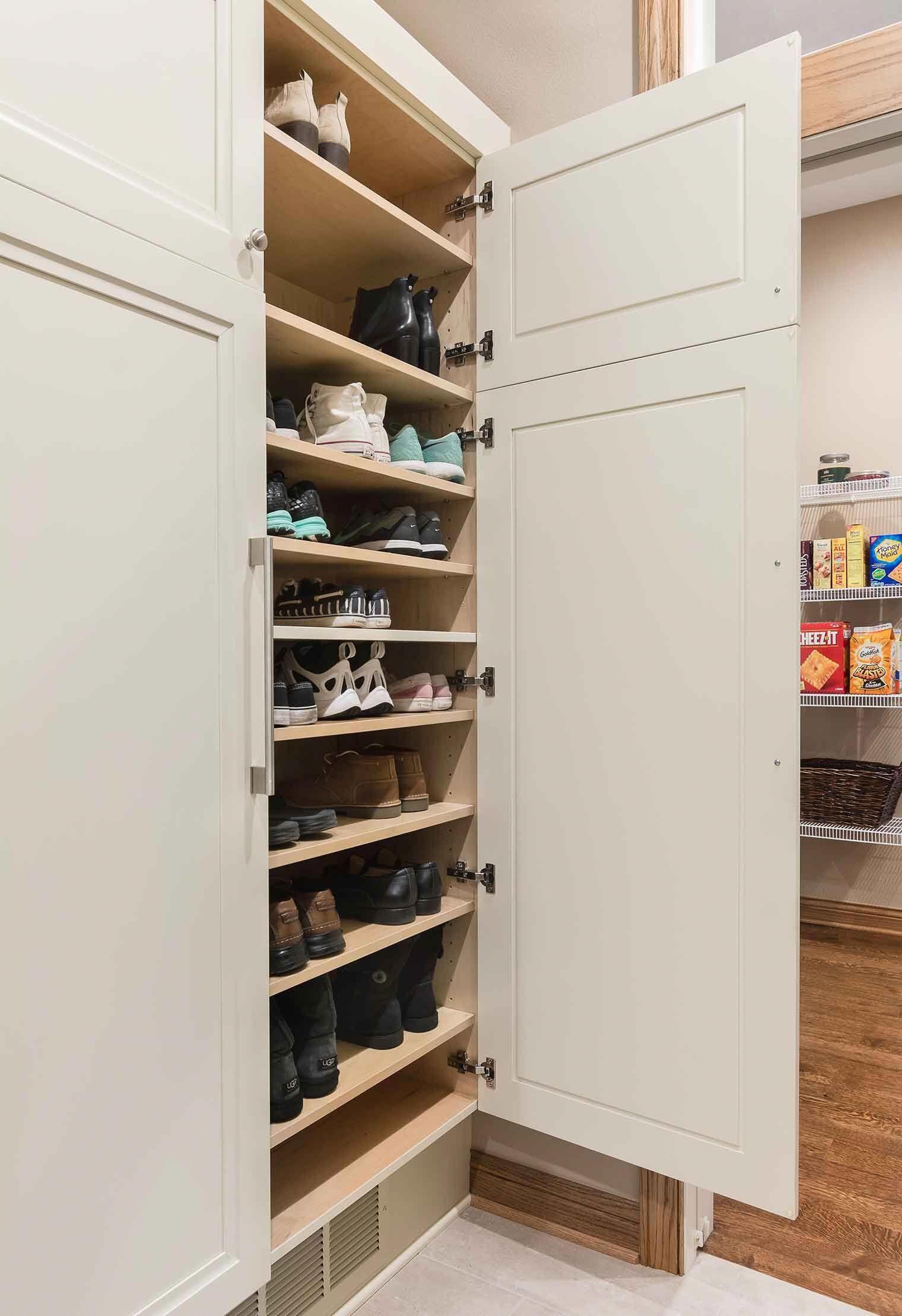 Our 7 Best Home Organization Ideas In 2020 Closet Shoe Storage Shoe Storage Cabinet Entryway Mud Room Storage