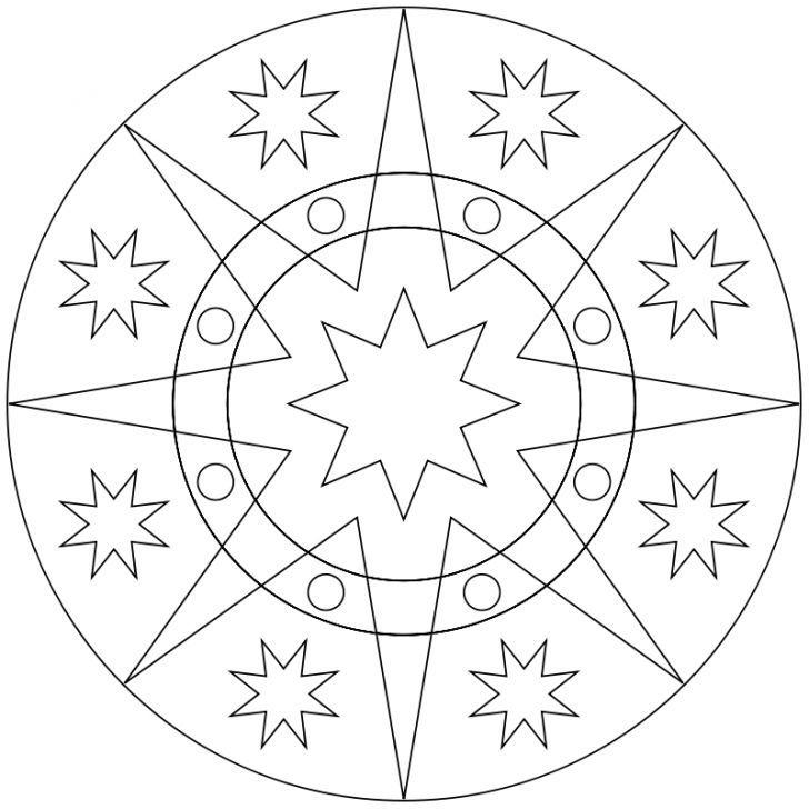 Mandala Ausmalbild Nr 106 Ausmalbilder Mandala Ausmalen Mand