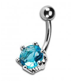 Turquoise+Large+Jewel+Navel+Piercing+Belly+Bar+by+BellyBarsUK