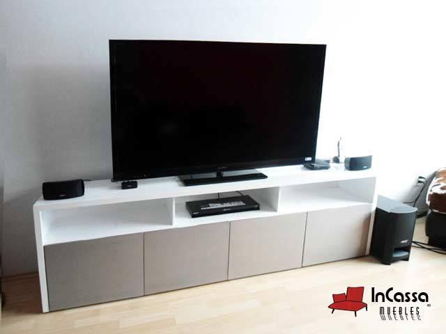 Centro de entretenimiento minimalista mod belice medidas for Mueble tv minimalista
