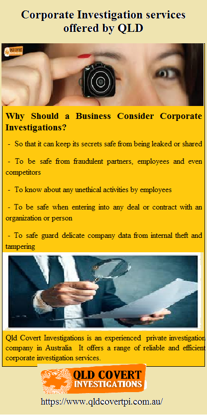 Qld Covert Investigations Is An Experienced Private Investigation