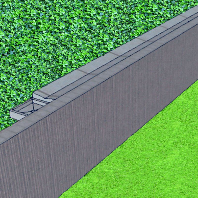 Concrete Swale Trench Drain Woth Catch Basin Behind Retaining Wall Foundation Drainage Foundation Repair Drainage