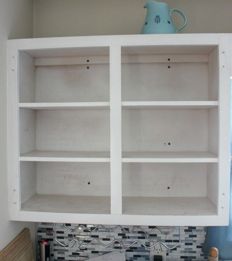 How to create open shelving with existing upper