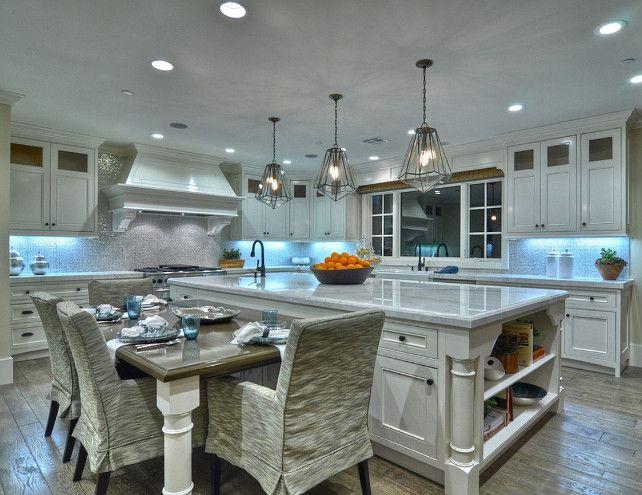 ranch style home with transitional coastal interiors this white bright warm kitchen - Coastal Kitchen Ideas