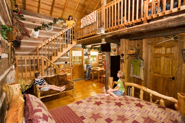Hand Hewn Cabins At Silver Dollar City S The Wilderness In Branson