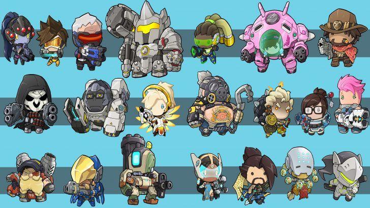 Download Overwatch Chibi Heroes Wallpaper Uhd 4k 3840x2160