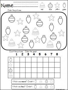 free christmas winter graphing activity great for pre k kindergarten and 1st grade during. Black Bedroom Furniture Sets. Home Design Ideas