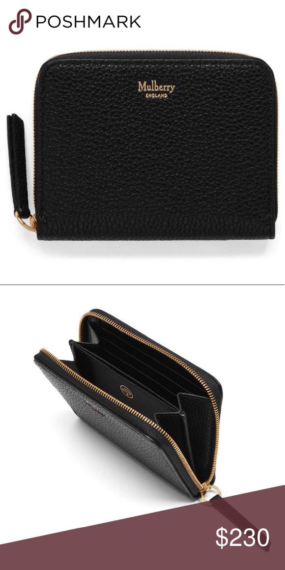 061f6b9fda Black Mulberry Small Zip Around Purse Brand new black leather Mulberry  wallet. It fits perfectly inside small bags