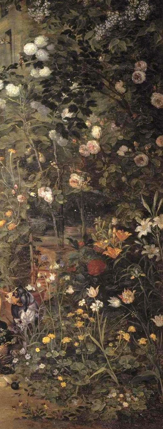 Jan Brueghel the Elder: Jan Brueghel the Elder (1568-1625)  Allegory of Smell (detail), 1618  Renaissance (Lat...