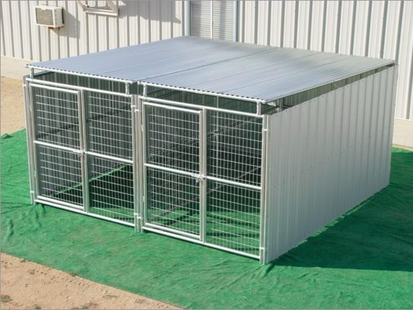 Heavy Duty Outdoor Enclosed Dog Kennel With Roof Shelter Multiple Run