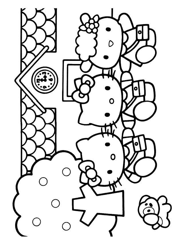 Kids N Fun Coloring Page Hello Kitty Hello Kitty Hello Kitty Colouring Pages Hello Kitty Coloring Kitty Coloring