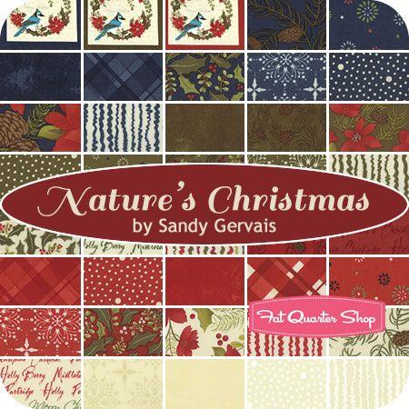 Nature's Christmas Yardage Sandy Gervais for Moda Fabrics