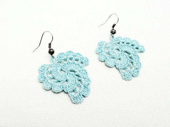 PDF Tutorial Crochet Pattern...Dangle Earrings -20 | Patrón de ...
