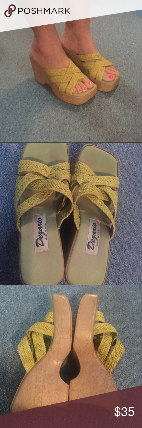 a7e189a505b Dezario Wedges Dezario Wedges size 7. Dezario Shoes Wedges