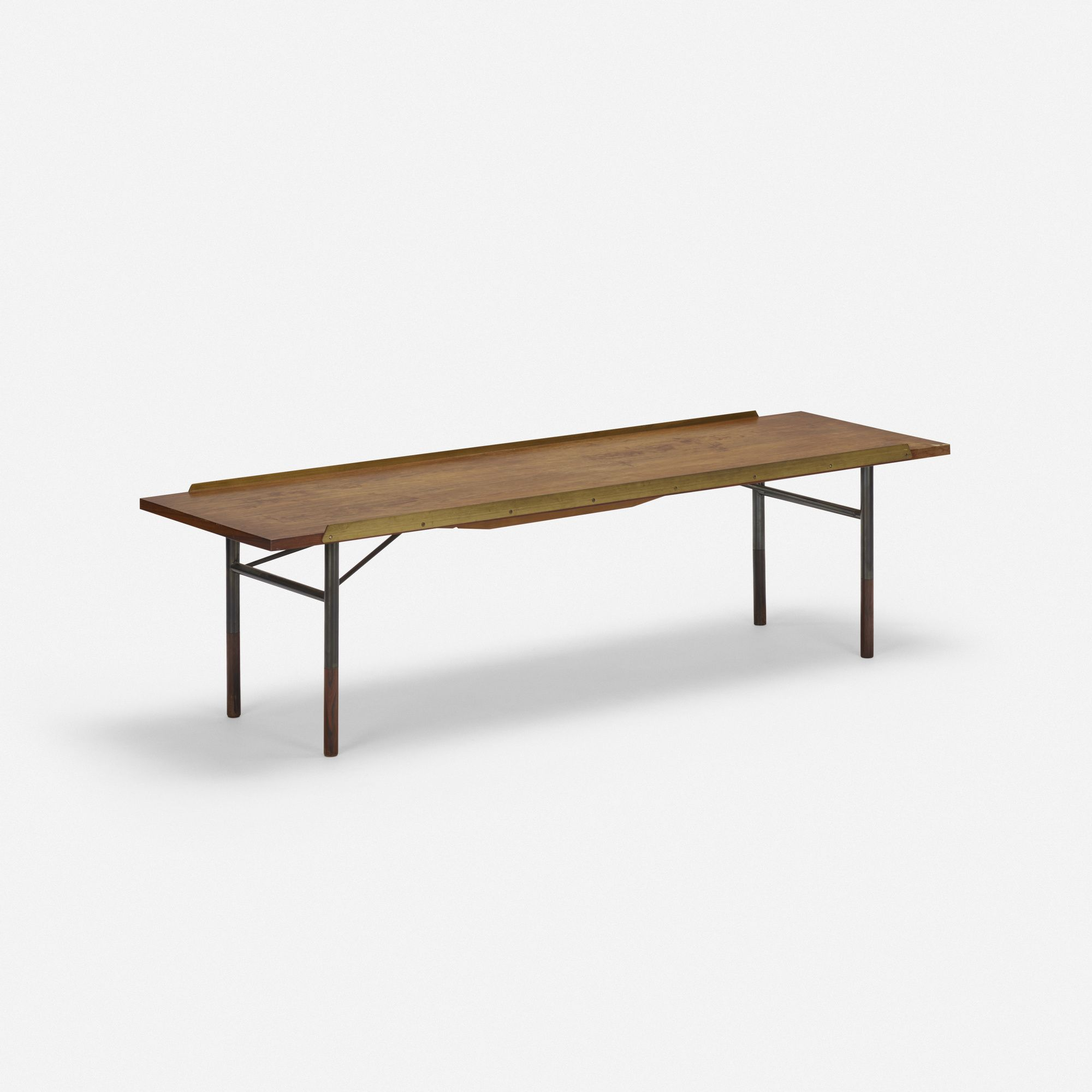 Incredible Lot 257 Finn Juhl Bench 1959 Rosewood Enameled Steel Machost Co Dining Chair Design Ideas Machostcouk