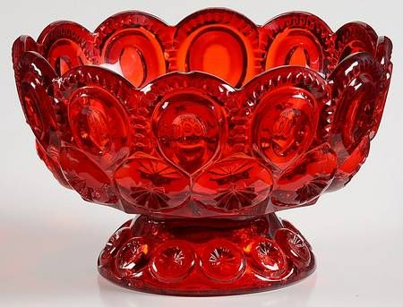 Wright Glass, L G, Moon & Stars-Ruby at Replacements, Ltd