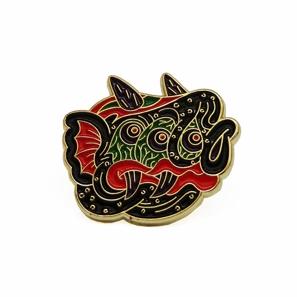 Limited Edition Three Eyed Monster enamel pin from Savage