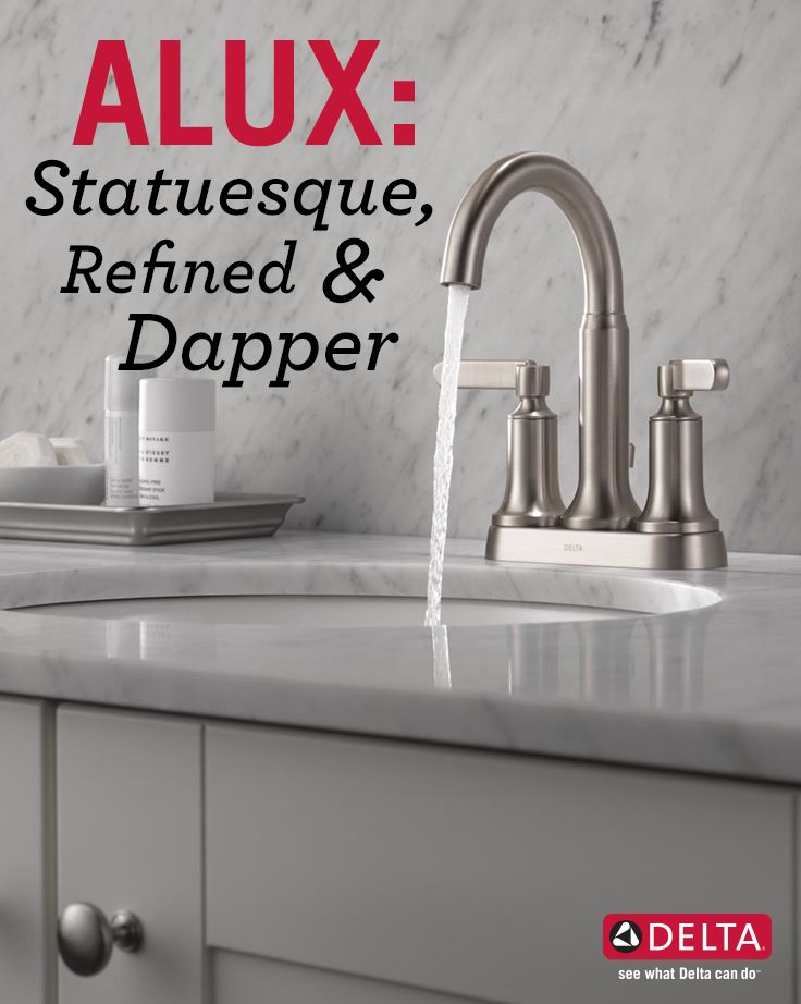 Deltau0027s Alux Collection: Proper, Polished And Powerful | Dapper, Kitchen  Design And Bath