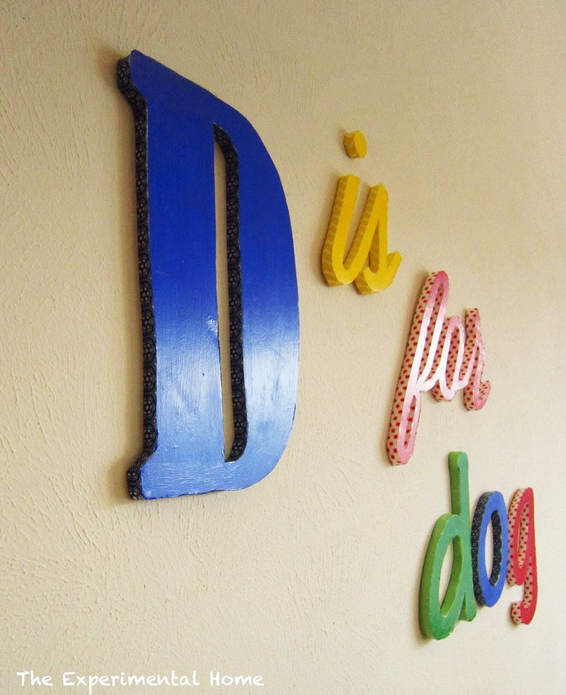 Totally Diy Wall Letters Custom Made In The Perfect Fonts From Foam Board Paint And Washi Tape The Experimental Diy Wall Letter Wall Diy
