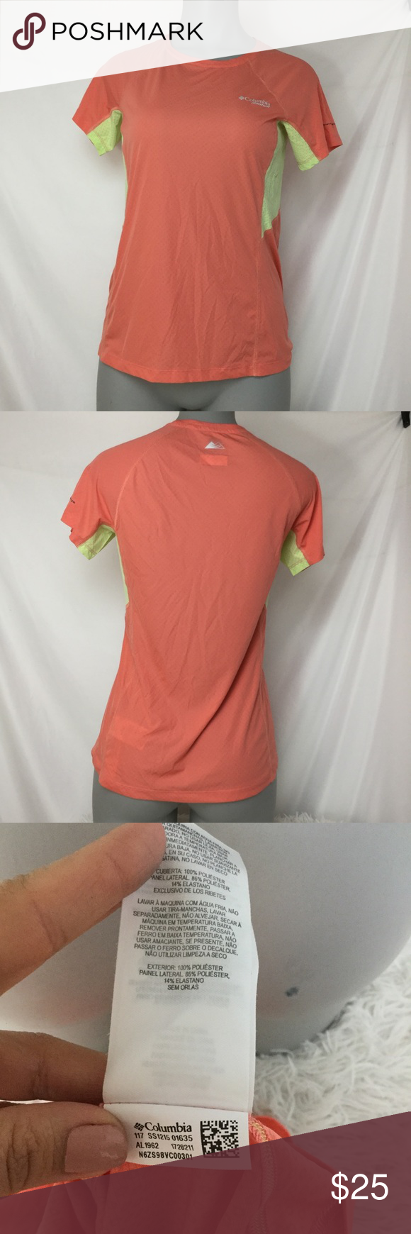 17435c28637 Columbia Titanium Tee Preowned in great condition ◻️Color- Orange/ Yellow ◻️Omni  freeze