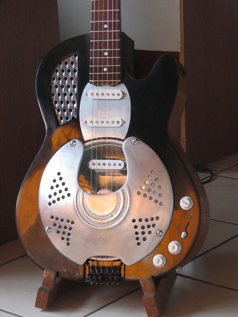 Resonator Guitar Converted From Old Acoustic Guitar Resonator Guitar Acoustic Guitar Guitar