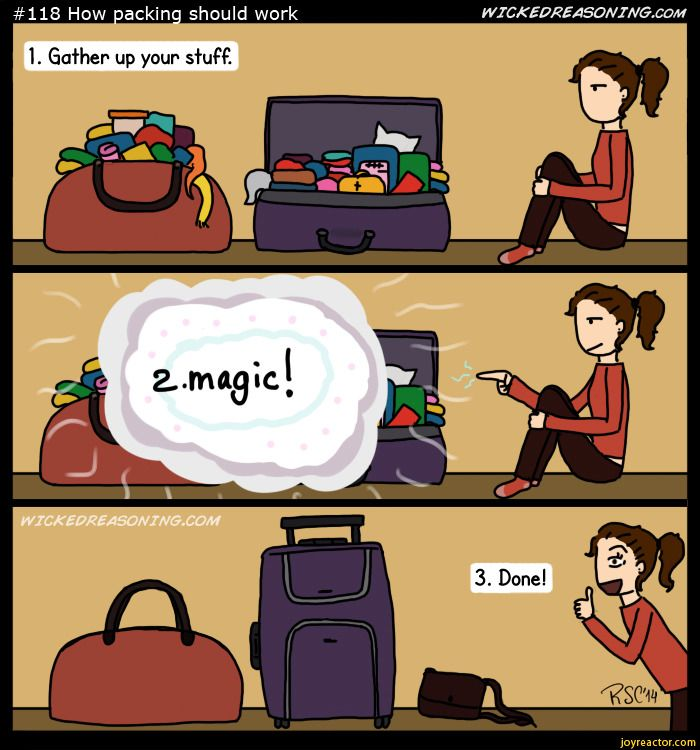 May The Fourth Be With You Cartoon: POOF ! Just Like That And Packing Is All Done ..... #Magic