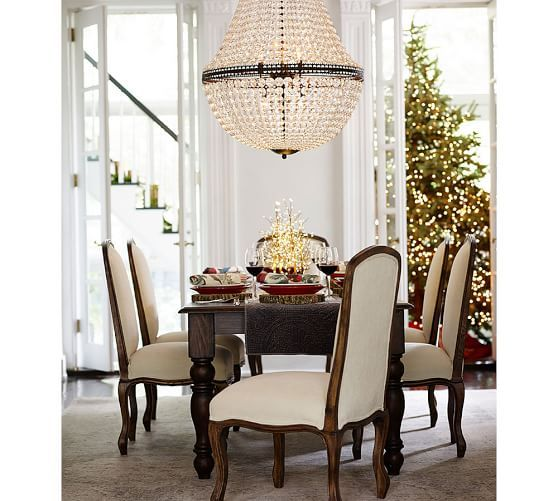 Mia Faceted Crystal Extra Large Chandelier | Pottery Barn Dining Room  Chandeliers, Large Chandeliers