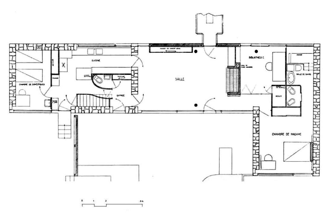 Villa de Mandrot by Le Corbusier, France Architecture Drawings
