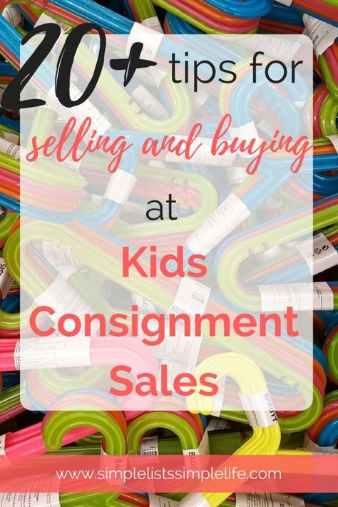 20+ Tips for selling and buying at Kids Consignment Sales ...