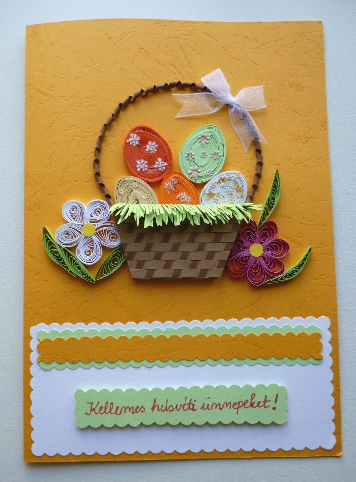 quilling easter | Papírvilág: quilling húsvéti üdvözlet / quilled Easter card