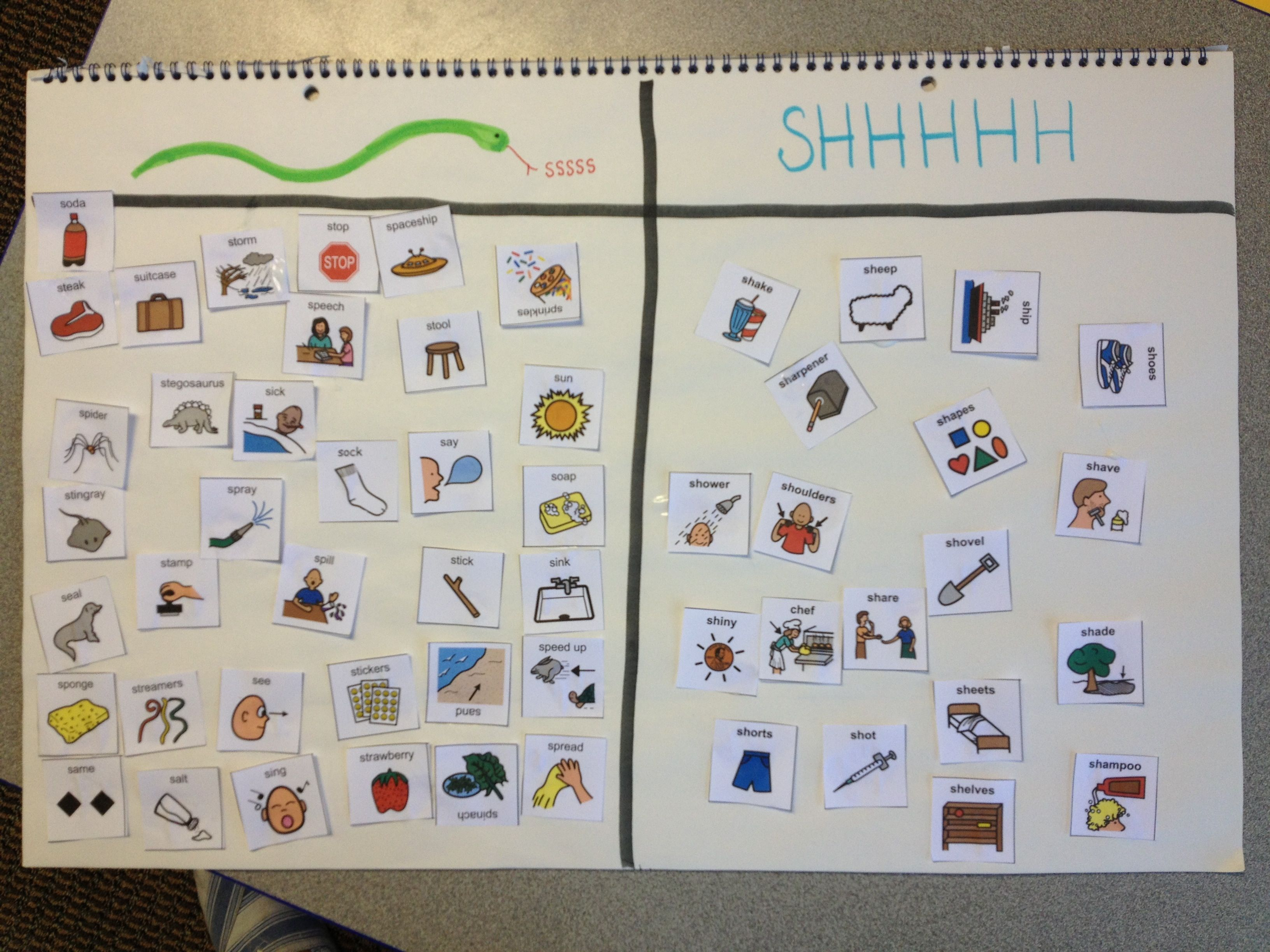 Speech Therapy Ideas S And Sh Discrimination Snake Sound
