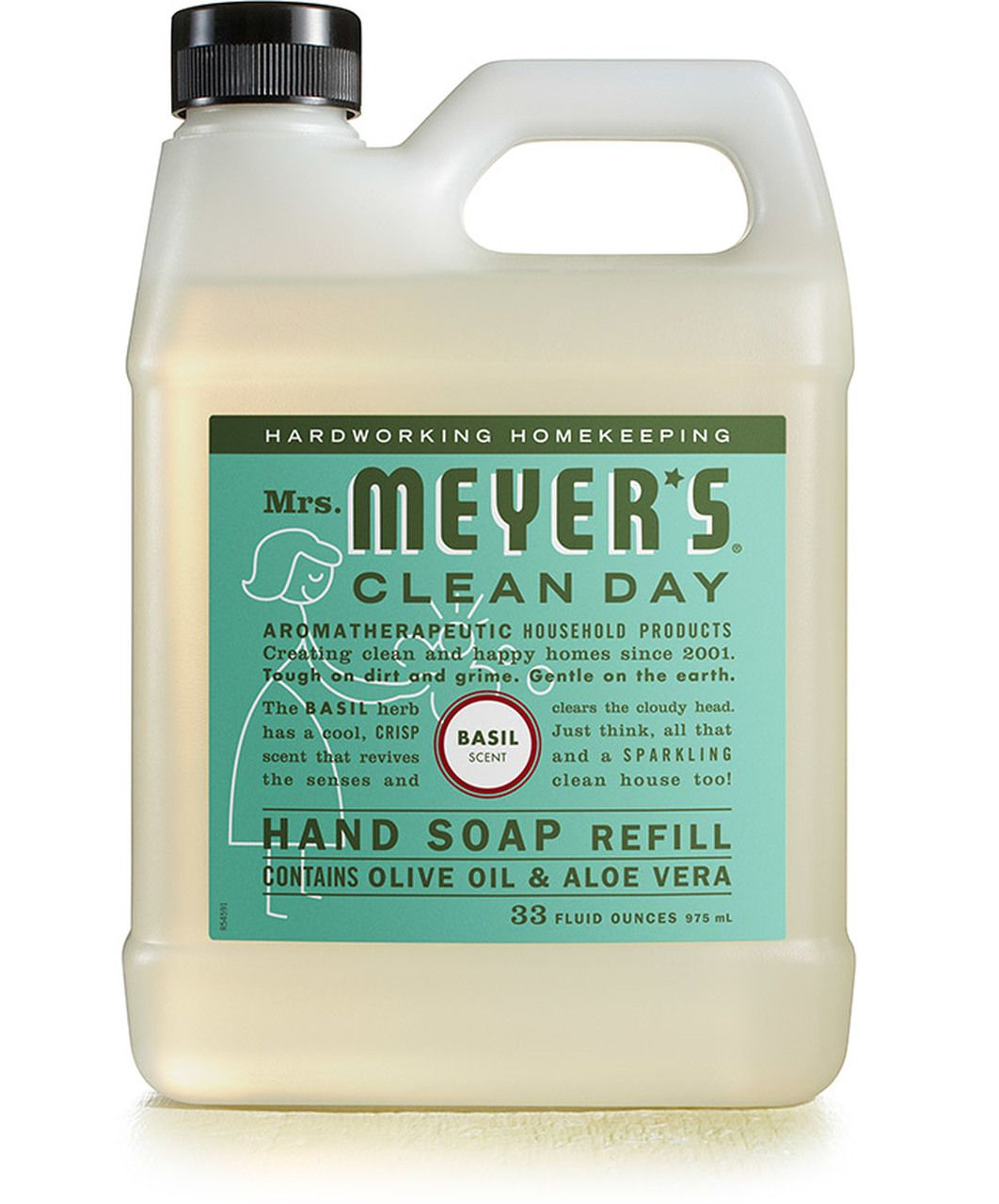 Basil Liquid Hand Soap Refill Cleaning Day Liquid Hand Soap Refill