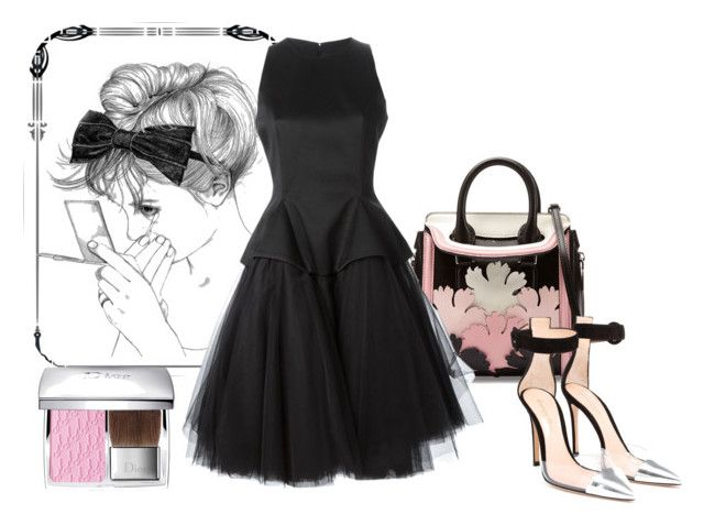 """""""Untitled #2556"""" by julinka111 ❤ liked on Polyvore featuring Alexander McQueen, Gianvito Rossi, Christopher Kane and Christian Dior"""